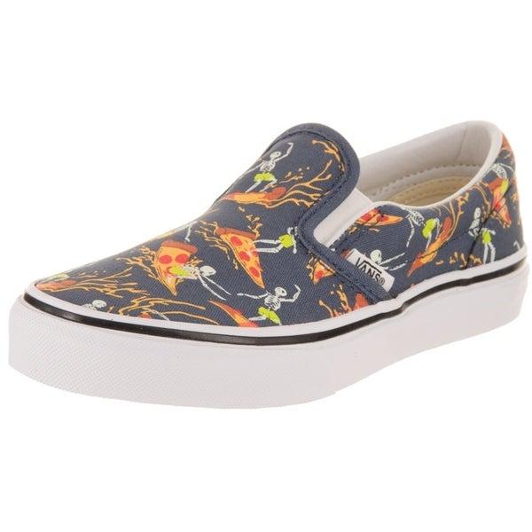 6c6f3249e Shop Vans Kids Classic Slip-On (Pizza Surf) Skate Shoe - Ships To ...