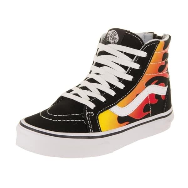 45c7d31f49 Shop Vans Kids Sk8-Hi Zip (Flame) Skate Shoe - Free Shipping Today ...