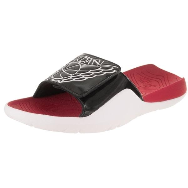 Jordan Red Black Slides Sandals For Men Size 9