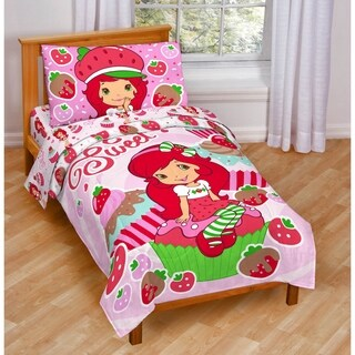 Strawberry Shortcake Toddler 4-piece Bed in a Bag Set