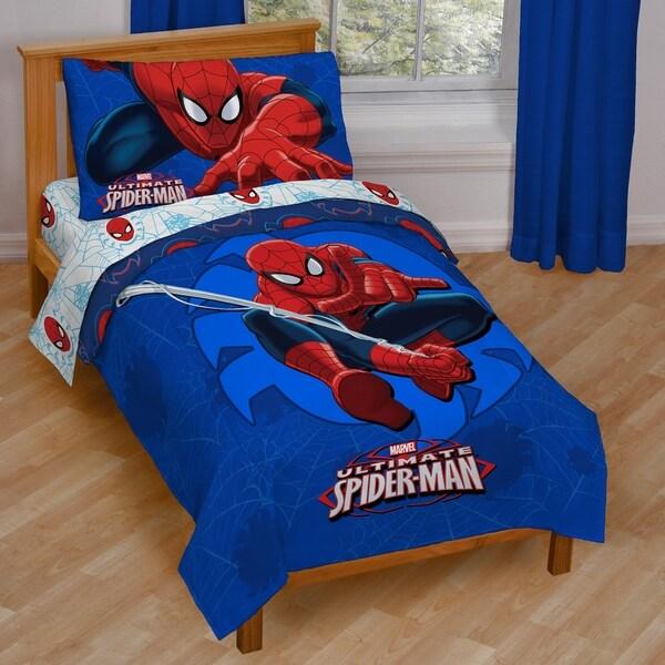Shop Marvel Spiderman Regulator Toddler Bed Set Free