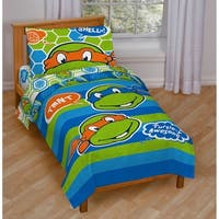 Nickelodeon Teenage Mutant Ninja Turtles 'Turtley Awesome' Toddler 4-piece Bed in a Bag Set
