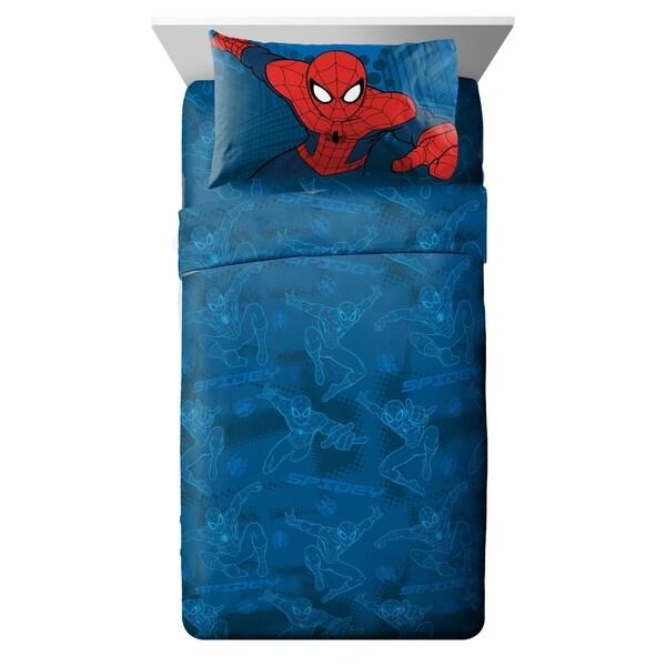 Marvel Spiderman 'Graphic' 4 Piece Full Sheet Set