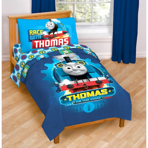 Thomas the Tank Engine Race Friends Toddler 4-piece Bed in a Bag Set