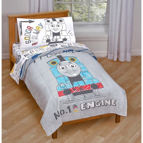 Thomas the Tank Engine Doodle Days Toddler 4-piece Bed in a Bag Set