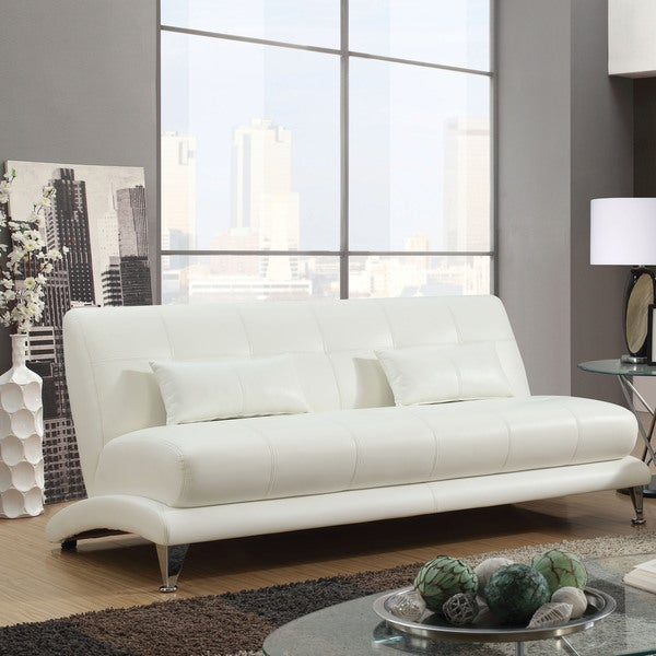 Shop Furniture Of America Max Modern Tufted Leather Sofa On Sale