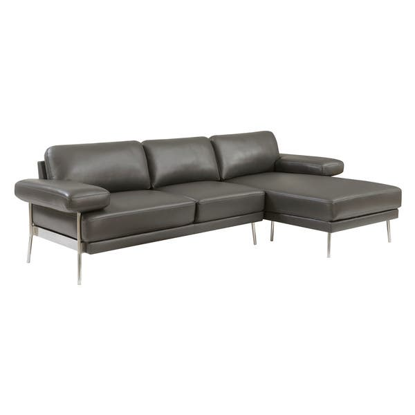 Amazing Shop Ella Modern Leather Sectional By Foa On Sale Free Pabps2019 Chair Design Images Pabps2019Com