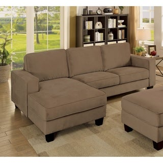 Furniture of America Willow Contemporary Brown Flannelette Sectional