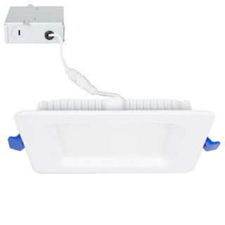 Maxxima 4 in. Dimmable Slim Square LED Downlight, Flat Panel Light, 700 Lumens, Neutral White 4000K