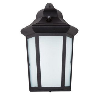 Maxxima LED Sconce Outdoor Wall Light Black w/ Frosted Glass Photocell Sensor  sc 1 st  Overstock.com & Maxxima LED Outdoor Wall Light Black Metal Cage w/ Frosted Glass ...