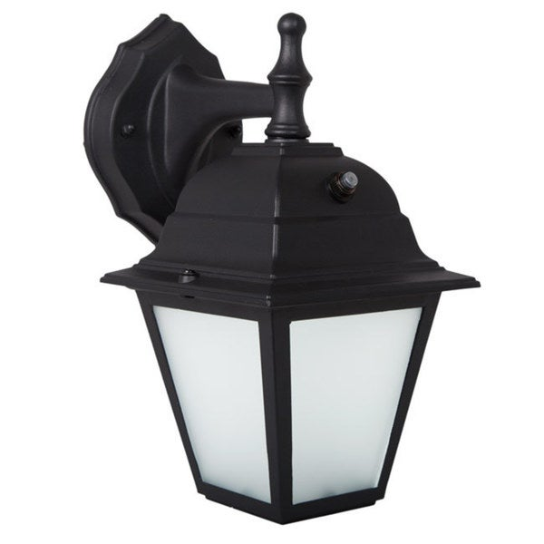 Shop Maxxima Led Porch Lantern Outdoor Wall Light Black W