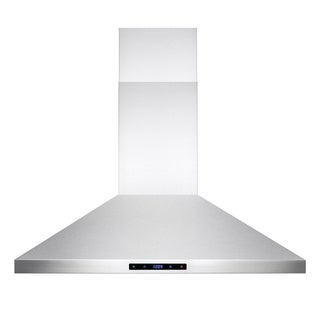 "AKDY RH0197 36"" Stainless Steel Kitchen Wall Mount Range Hood with Touch Screen Display"