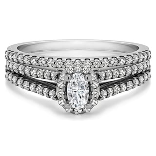top product reviews for twobirch bridal set two rings in 10k gold