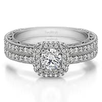 TwoBirch Bridal Set (Two Rings) in 10k Gold and Cubic Zirconia (1.34tw ) - Clear