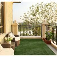 """Garden Grass Indoor/Outdoor Green Artificial Turf Area Rug - 3'3"""" x 5'"""