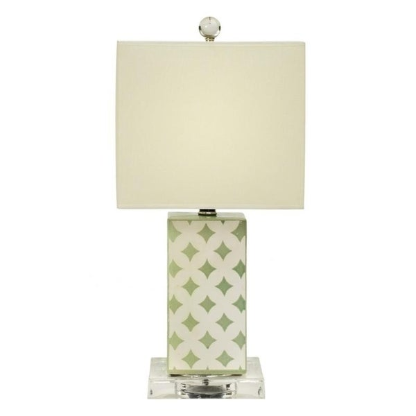 "Fangio Lighting's 8876 20"" Ceramic Table Lamp in Ocean Spray Crackle"