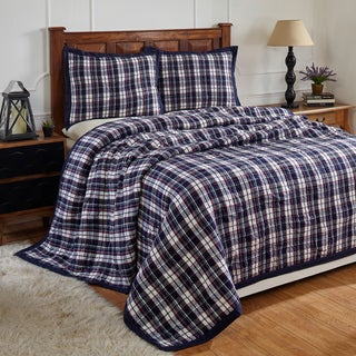 Bernard Blue Cotton Quilt Set