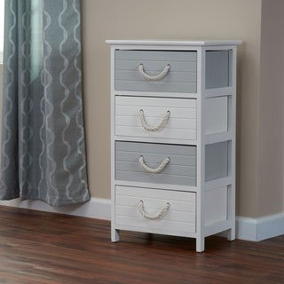 Seaside 4-Drawer Storage Side Table