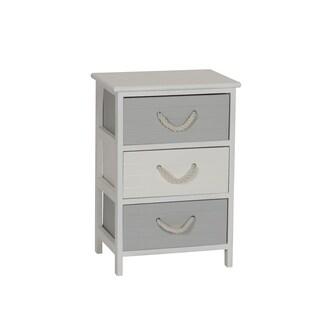 Seaside 3-Drawer Storage Side Table
