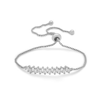 Piatella Ladies Brass Cubic Zirconia Accented Drawstring Bracelet in 3 Colors