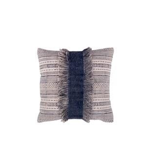 "Handmade Durban Decorative Pillow Blue 20"" x 20"" (India)"