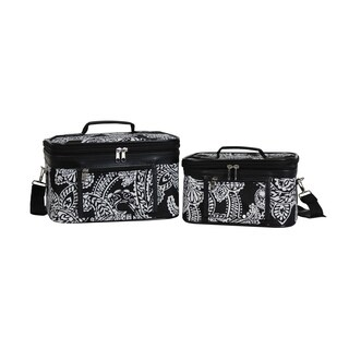 World Traveler Paisley 2-Piece Train Cosmetic Case Set