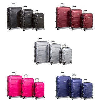 Dejuno Logan 3-Piece Hardside Spinner Combination Lock Luggage Set