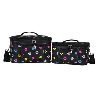 World Traveler Doggy Paws 2-Piece Train Cosmetic Case Set