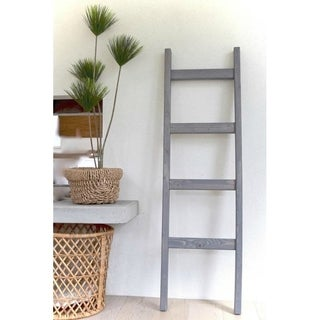 Decorative 5 ft Wood Blanket Ladder