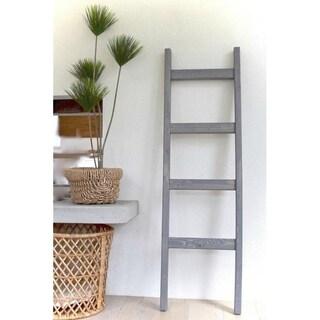 Decorative 5 ft Wood Blanket Ladder