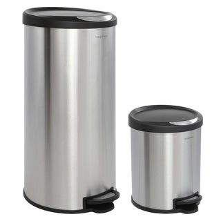 Happimess Oscar Round 8 Gallon Step Open Trash Can With FREE Mini Trash Can