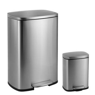 Himess Connor Rectangular 13 Gallon Trash Can With Soft Close Lid And Free Mini
