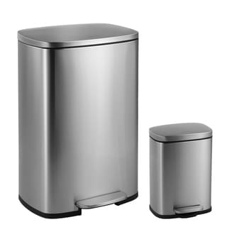 Happimess Connor Rectangular 13 Gallon Trash Can With Soft Close Lid And  FREE Mini