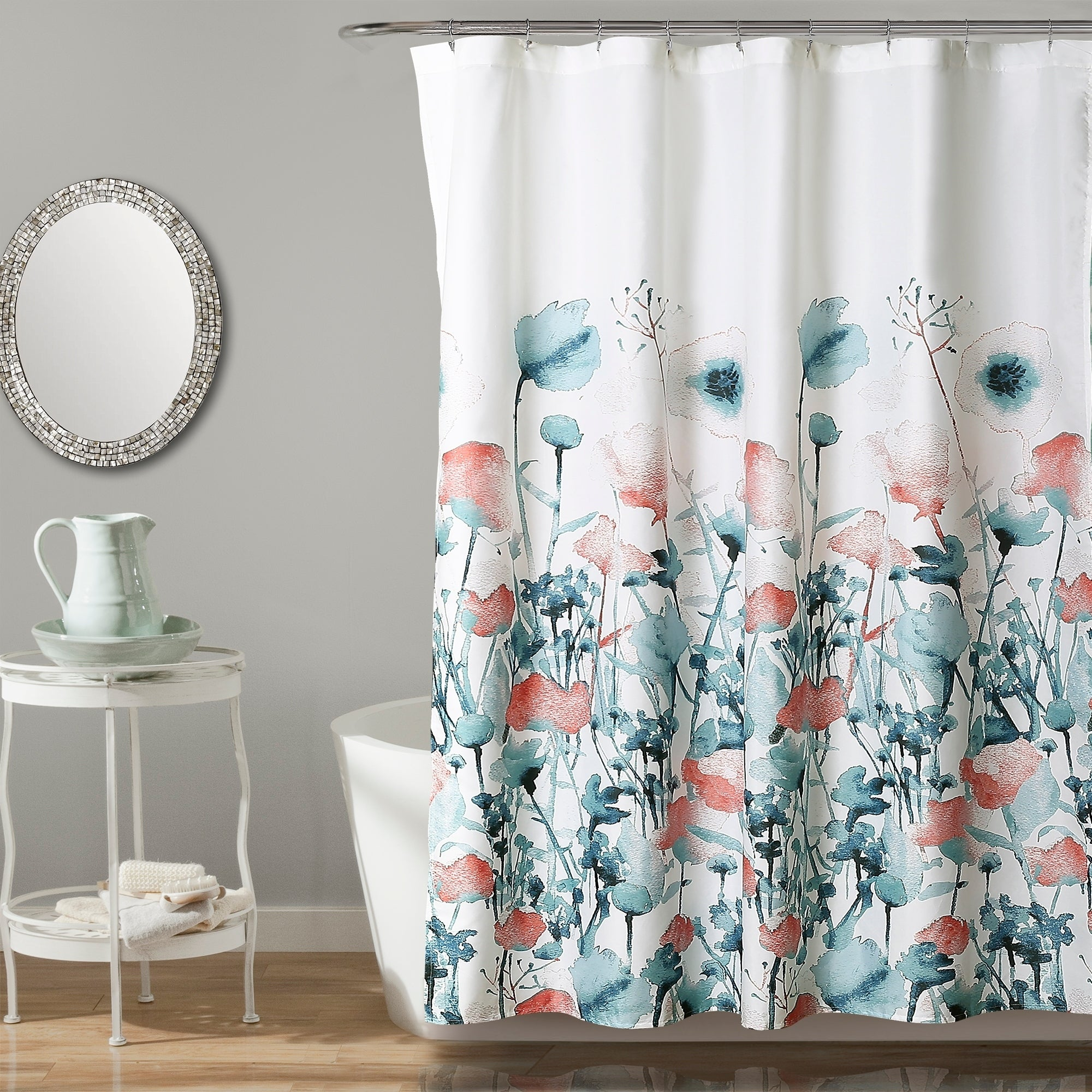 Matching Bedroom And Bathroom Sets: Shop Lush Decor Zuri Flora Shower Curtain