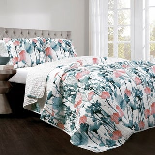 The Curated Nomad Luminet Flora 3-piece Quilt Set