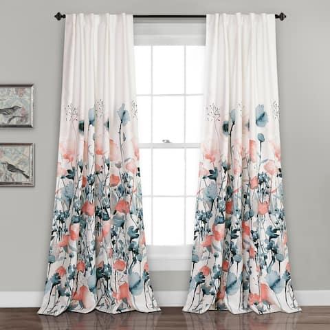 The Curated Nomad Luminet Flora Room Darkening Window Curtain Panel Pair