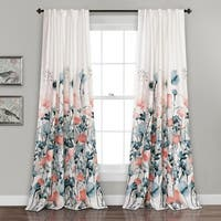 Maison Rouge Luminet Flora Room Darkening Window Curtain Panel Pair