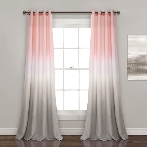 Lush Decor Umbre Fiesta Room Darkening Window Curtain Panel Pair