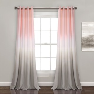 Lush Decor Umbre Fiesta Room Darkening Window Curtain Panel Pair (2 options available)