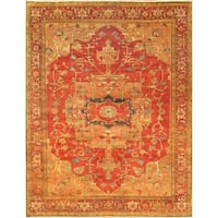 """Pasargad Rust Serapi Collection Hand-Knotted Wool Rug (9' 0"""" X 11'11"""")"""