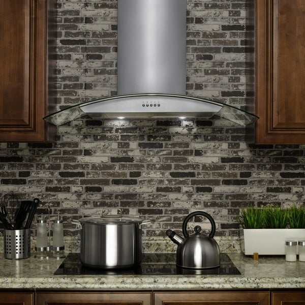 Akdy Rh0203 30 European Style Wall Mount Stainless Steel Range Hood Vent With Carbon Filters