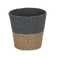 Cattail and Paper Two Tone Waste Basket