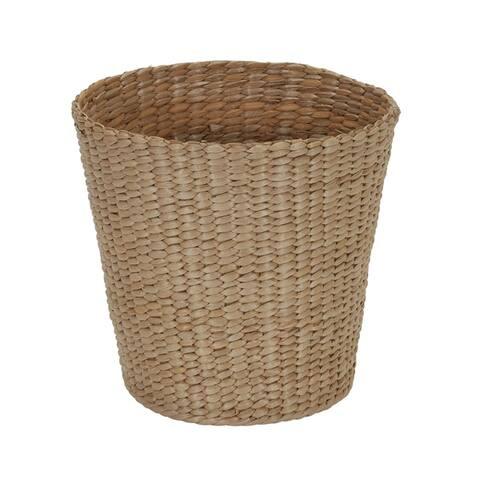 Cattail and Paper Cream Waste Basket