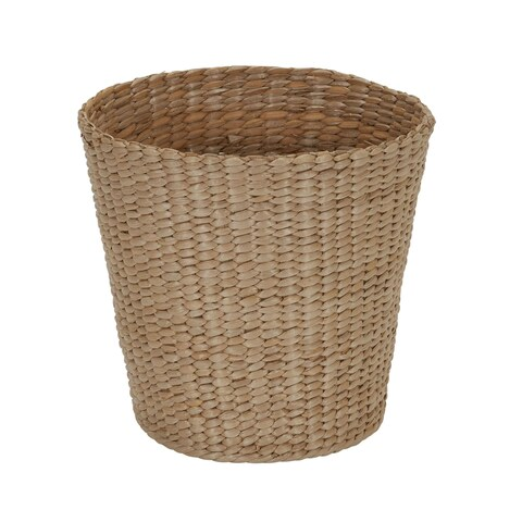 Cattail and Paper Cream Waste Basket