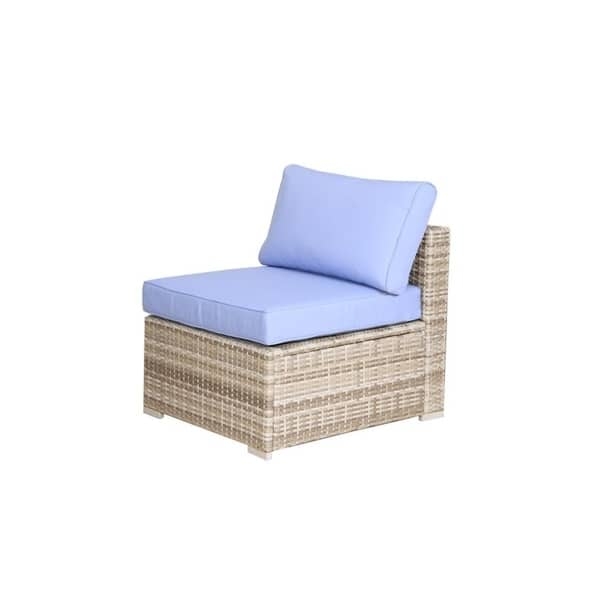 Strange Shop Broyerk 7 Piece Blue Outdoor Rattan Patio Furniture Set Caraccident5 Cool Chair Designs And Ideas Caraccident5Info