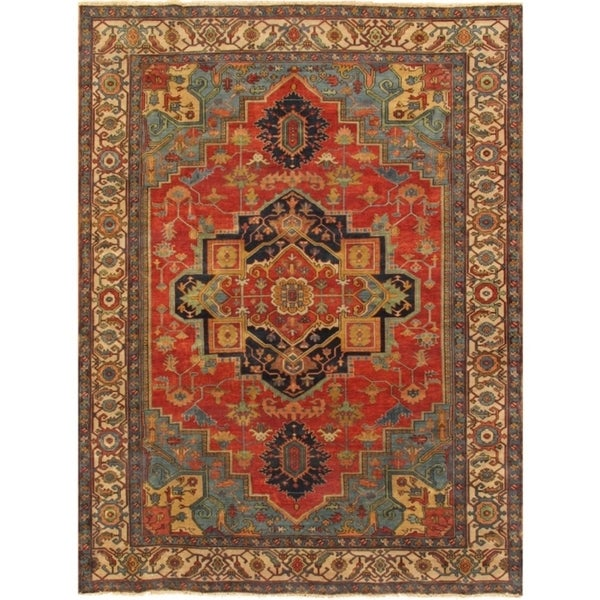 """Pasargad Serapi Collection Hand-Knotted Wool Area Rug (9' 2"""" X 12' 0"""") - 9' x 12'"""