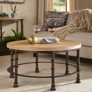 Coffee tables for less overstock nori industrial accent tables by inspire q artisan watchthetrailerfo