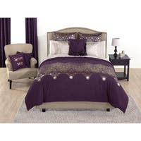 Simon Chang Arabian Nights Purple Duvet Cover Set