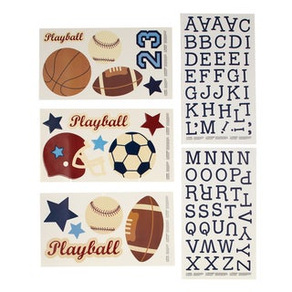 NoJo Play Ball Wall Decals w/ alphabet