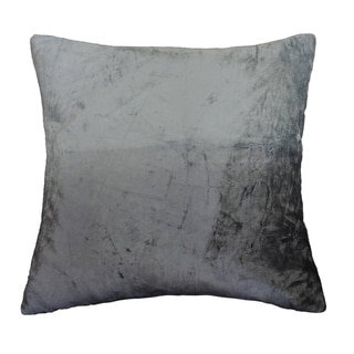 AM Home Ombre Viscose Velvet Pillow , Feather Insert (Silver)